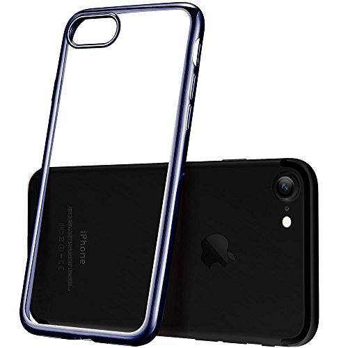 iPhone 8 Hülle, iPhone 7 Hülle, ESR Transparent Durchsichtig [Ultra Dünn] Klar Weiche TPU Schutzhülle [Kabelloses Aufladen Unterstützung] für Apple iPhone 8/7 4.7 Zoll 2017 Freigegeben. (Klar) Metallisch Schwarz Rahmen
