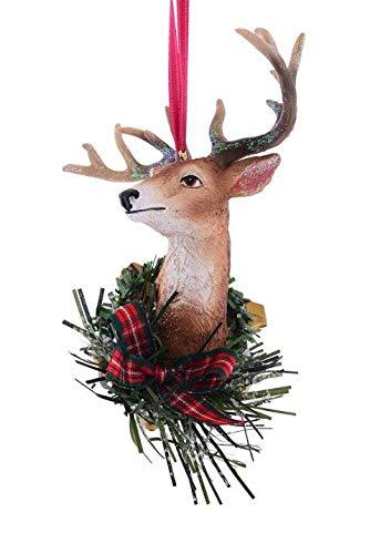 Gift Company X-Mas Décoration pour Sapin de Noël Motif tête de cerf