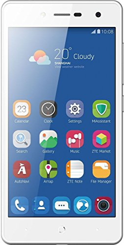 ZTE Blade L7 Smartphone (12,7 cm (5 Zoll) Display, 8 GB Speicher, Dual-SIM, Android 6.0) Weiß