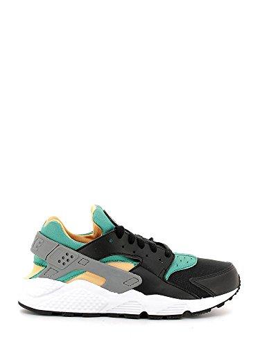 Nike Air Hurache, Scarpe da Corsa Uomo, Multicolore (Black/White/Emerald/Resin/Wolf Grey/White), 40.5 EU