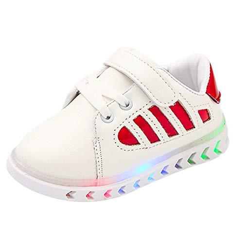 Bottines Fille Enfant ☂☃ Noël Enfants Enfant bébé Filles garçons Cuir LED Lumineux Sport élève Chaussures