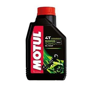 Motul 104054 5000 1T Huile pour moto à moteur 4 temps 10W-40, 4l pas cher