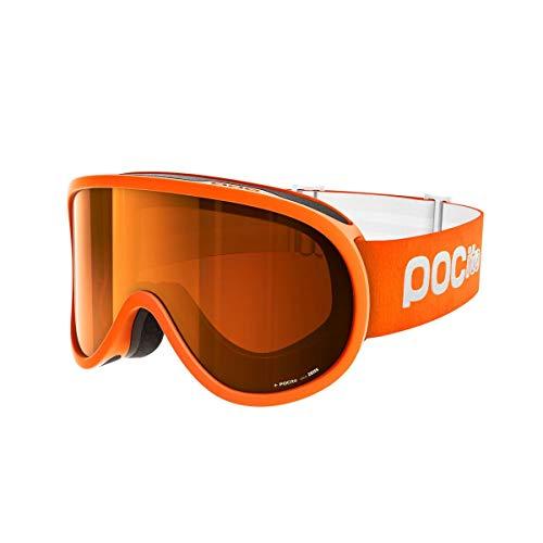 POC Pocito Retina, Maschera da Sci Alpino Unisex-Bambini, Arancio (Zink Orange), Taglia Unica