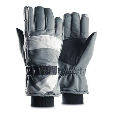 SHR-GCHAO Berühren Winter Outdoor Sports Handschuhe Screen Plus Velvet Thick Warm Reiten oder Fahren Rennen Ski-Handschuhe Grau,M