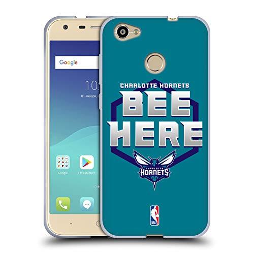 Head Case Designs Offizielle NBA Hornets Buzz City 2018/19 Team Slogan Soft Gel Huelle kompatibel mit ZTE Blade A6 -