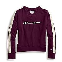 سويت شيرت Champion Heritage Crew مزود بشريط Venetian Purple XX-Large