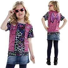 7dc6624e406c0 Disfraz Camiseta de Rapero Original de Carnaval para niña de 8-10 años de  Microfibra