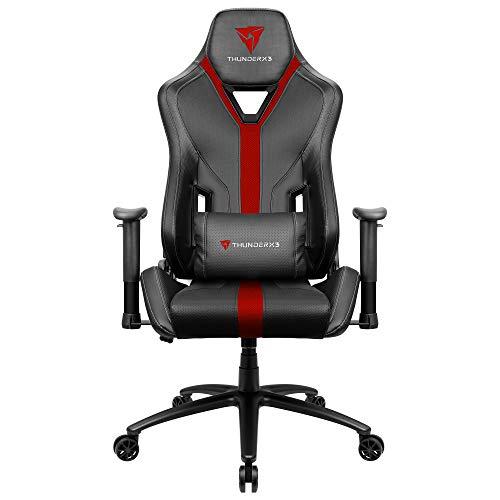 ThunderX3 YC3, Silla Gaming Ergonómica, Tecnología AIR, Respaldo Ajustable, Rojo