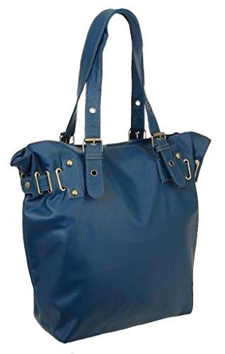 EyeCatchBags - Sebago Kunstleder Damen Handtasche Blau