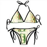 Photo de Choo Choo Train Banner Fashion Sexy Womens Printing Bikini Set Adjustable Bathing Suits par KLYDH