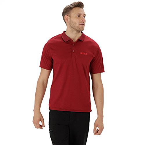 Regatta Maverick IV Poloshirt für Herren,Rot(Delhi Red),XXXX-Large - Leichtes Pique Polo Golf Shirt