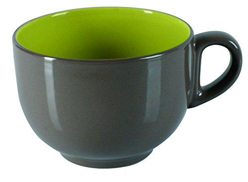 Dajar Becher Jumbo.Fusion Fresh. Taupe, Keramik, Braun; Grün, 11 cm Jumbo-tasse