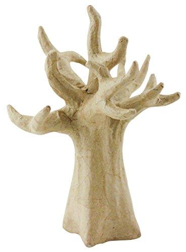 Personalisierte Familie Schmuck (Décopatch SA114O Träger S aus Pappmaché, Baobab Baum, 14 x 5,5 x 20,5 cm,  zum Verzieren, Kartonbraun)
