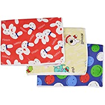 Changing Mat for New Born Baby - Plastic & Cotton Foam Cushioned Baby Waterproof Sheets - Baby Sleeping Mat # Pack of 3 (Medium (3 to 6 Month))