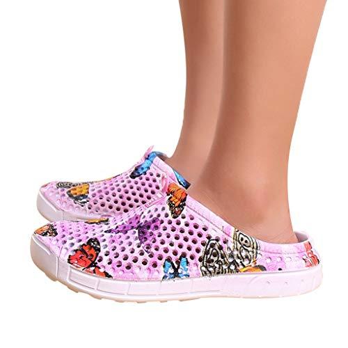 (Ears Frauen Loch Schuhe Sommer Badeschuhe Beiläufig Boots Boden Steigung Einzelne Schuhe Tuch Schuhe Schmetterling Strand Sandalen hohl Casual atmungsaktive Hausschuhe Wohnungen Schuhe)