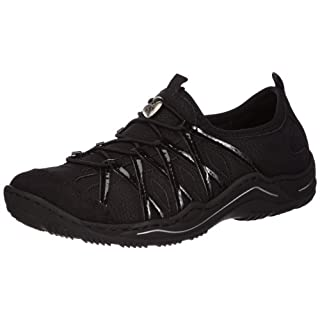 Rieker Damen L0564 Sneaker, Schwarz / 01, 39 EU