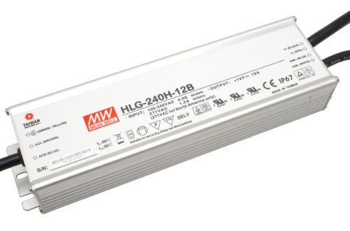 Controlador LED de intensidad regulable fuente de alimentación LED MeanWell HLG-240H - 12B 240 W 12 V/DC 20 A de suministro constante