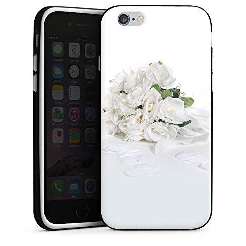 Apple iPhone X Silikon Hülle Case Schutzhülle Rosenstrauss Hochzeitsstrauss Rosenblätter Silikon Case schwarz / weiß