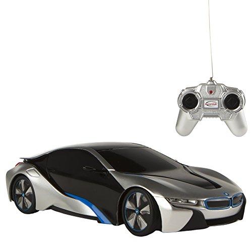 Rastar - BMW i8, coche teledirigido, escala 1:24, color gris (ColorBab