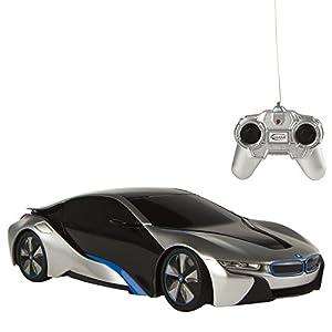Rastar - BMW i8, coche teledirigido, escala 1:24, color gris (ColorBaby 75898)