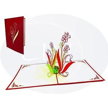 Lin De Cartes Fleurs 3d Pop Up Carte Carte Danniversaire