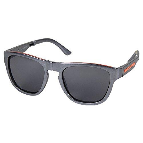 Sonnenbrille Panto Brille getönt Faltbrille faltbar 400 UV grau orange
