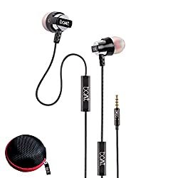 boAt BassHeads 240 In-Ear Super Extra Bass Earphone with One Button Mic (Silver)