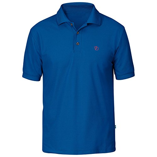 Fjällräven Herren Crowley Pique Shirt Poloshirts, Bay Blue, 2XL (Polo Bay)
