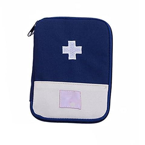 Pratique médicale Stockage Sac Camping Survival First Aid Kit Portable Bag Case Bleu