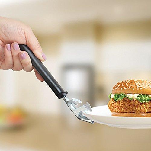 Hot Teller Schüssel Clip mit Flaschenöffner anti-hot Hot Pfanne Stahl Platte Edelstahl Clip (Tv-ständer Titan)