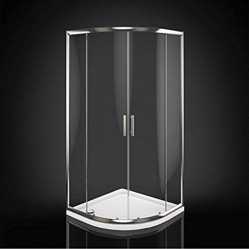 Viertelkreis Duschkabine Sicherheitsglas 90×90 cm im Test - 3