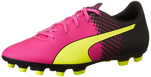 Puma Evospeed 5.5 Tricks Ag Jr Unisex-Kinder Fußballschuhe Pink (pink glo-safety yellow-black 01)