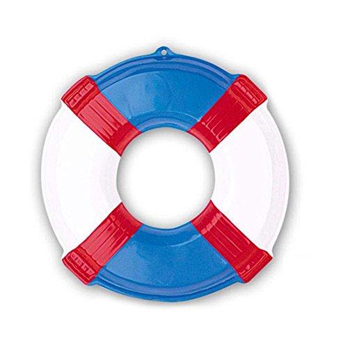 NET TOYS Deko Rettungsring Wanddeko 3D Rettungsreifen blau Maritime Hängedeko Wurfring Dekohänger Seefahrt Schwimmring Baywatch Wurfreifen Poolparty Dekoration Schwimmreifen