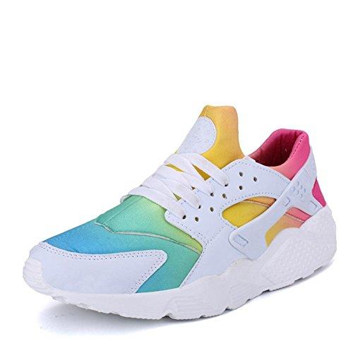 Damen Regenbogen Sportschuhe atmungsaktive und leichte Laufschuhe , white , 36 (Adidas-basketball-frau-schuhe)