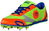 GBG Men's Orange and Green Polypropylene Bolt Running Spikes Shoes -10 UK/IND