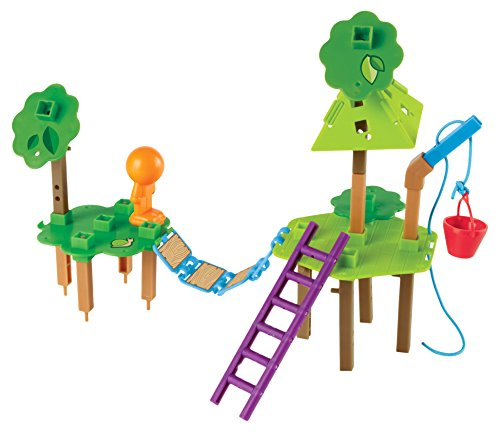 Learning Resources Tree House Engineering and Design Building STEM Set, 52 Pieces