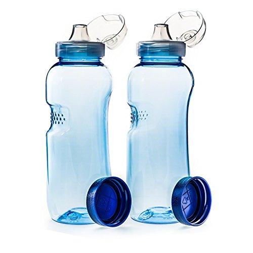 2 x 0,5 L Trinkflasche aus Tritan mit Trinkdeckel Flip Top Sportdeckel BPA frei