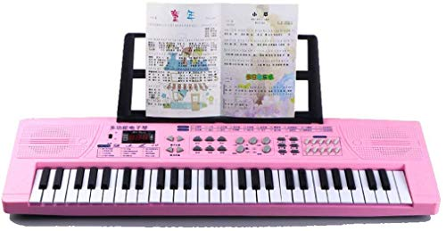 WZB Multifunktionsinstrument Multifunktionstastatur mit 54 Tasten für die frühe Bildung, Musikinstrumentenspielzeug für Kinder, mit Zither, Stereoanlage mit Zwei Lautsprechern