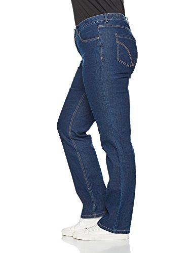 Ulla Popken Große Größen Damen große Größen  Jeans-Hose, Basic    Regular Fit, Straight Leg   Denim-Optik, 5-Pocket, Stretch   bis Größe 64   Blau (bleached 92)