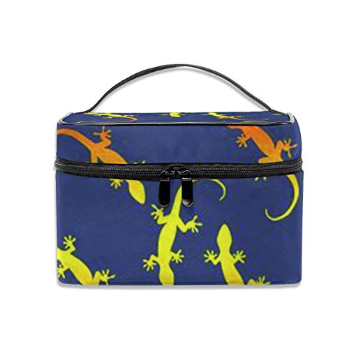 Make-up Taschen Etuis,Kosmetiktaschen Lizards Gecko Party Travel Cosmetic Case Organizer Portable Artist Storage Bag with,Built-in Pocket,Multifunction Case Toiletry Bags for Women Travel Daily Carry
