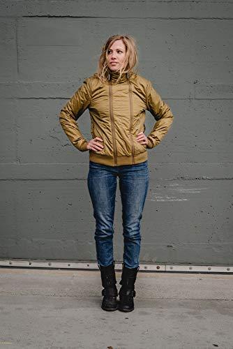 THOKKTHOKK Damen Jacke Kapok Olivgrün Fair Vegan, Größe:S - 2