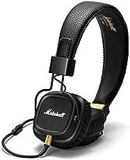 Marshall Major II 2cuffie con microfono profonda Bass DJ Hi-Fi cuffie HiFi cuffie professionali per iPhone 8Plus NOTE8S9x + (402156329) nero