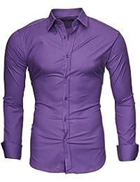 96655f62dd900 Kayhan Hombre Camisa Manga Larga Slim Fit S-6XL - Modello Uni
