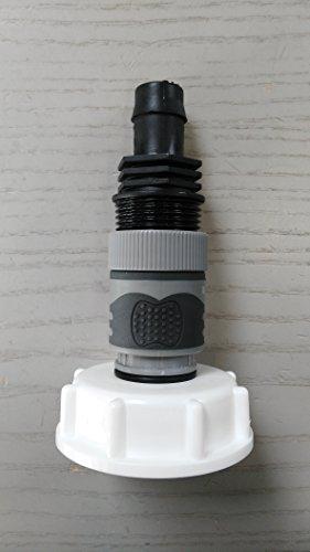 - Promotion ams19 6 W2146s + 9987 Bec Adaptateur avec raccord rapide et fiche adaptateur Convient pour Gardena + Douille de tuyau, IBC Réservoir Eau de Pluie de Accessoires de conteneurs Mamelon de Bidon