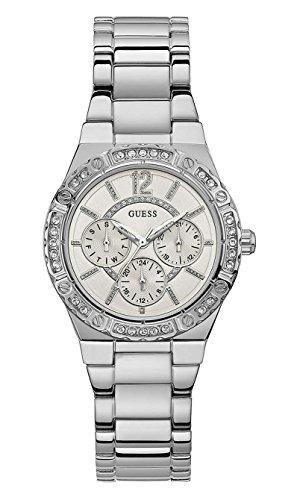 Guess orologio multi-quadrante quarzo donna con cinturino in acciaio inox w0845l1