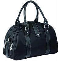 Lassig Glam Global Style Diaper Bag includes matching Bottle Holder, Changing Mat and Stroller Hooks, Black