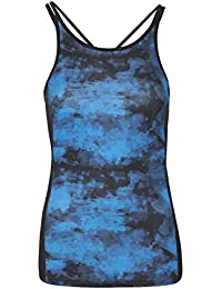 Mountain Warehouse IsoCool Sculpt Printed Women's Vest - Lightweight, Quick Dry, Breathable, Antibacterial, Wicking IsoCool Fabric with Bright Print & Slim Straps