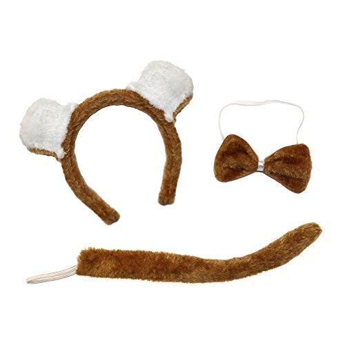 uch Tag Kostüm Satz ( Ohren Stirnband, Schwanz & Fliege) (Drei Passende Halloween-kostüme)