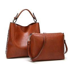 f9af7997e2 BAGTECH Donna Borsa Hobo PU Pelle Borse a Mano Modo Handbag Borsa a Spalla  Set