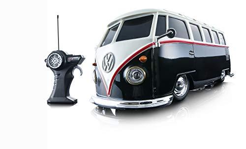 Maisto - 2049701 - Voiture Miniature Radiocommandé - VW Van Samba - Blanc/Noir - Echelle 1/24